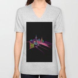 Vibrant City Art 44 Unisex V-Neck