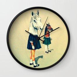 Scholar Horses Wall Clock
