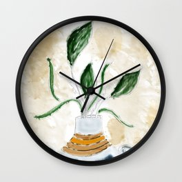 Potted and Cultured Wall Clock