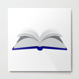Open Book Metal Print