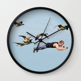 Taking Flight II Wall Clock