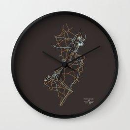 New Jersey Highways Wall Clock