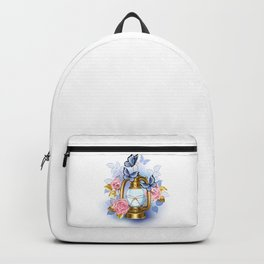 Kerosene Lamp with Pink Roses Backpack