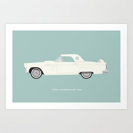Ford Thunderbird 1956 Art Print