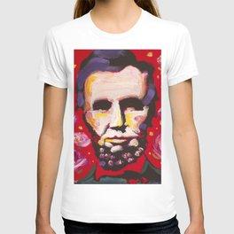 Abraham Lincoln Floral Portrait T-shirt