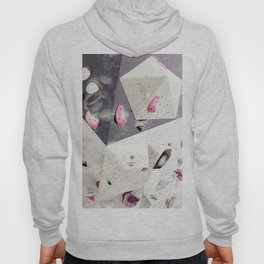 Geometric abstract free climbing gym wall boulders pink white Hoody