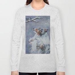SHELTIE Shetland Sheepdog dog art from an original painting by L.A.Shepard Long Sleeve T-shirt