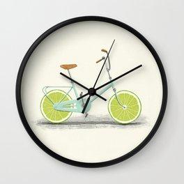 Acid (Blue) Wall Clock