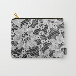 black and white laced Carry-All Pouch