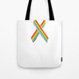 Womens Proud Mom Rainbow T-shirt Gay Lesbian Pride Tote Bag