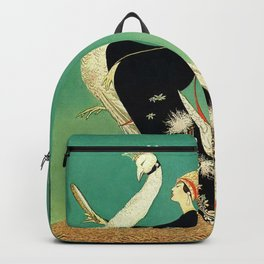 Vintage Magazine Cover - Peacock Backpack