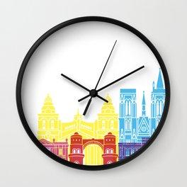 Cordoba AR skyline pop Wall Clock