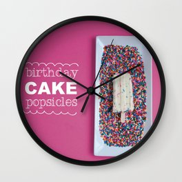 Birthday Cake Popsicle Wall Clock