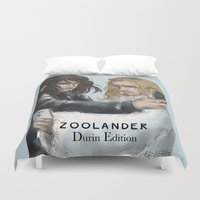 fili Duvet Covers featuring Zoolander Durins Edition by AlyTheKitten