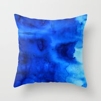 marine Throw Pillows featuring Marine by itsme.emi