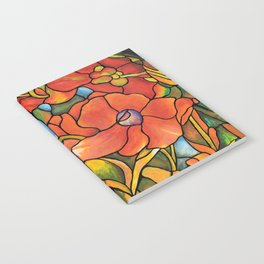Red Poppy Lamp Notebook