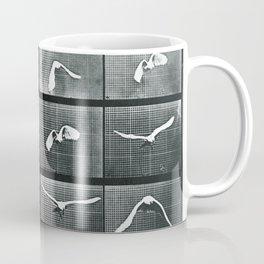 Time Lapse Motion Study Bird Monochrome Coffee Mug