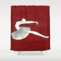 ballerina Shower Curtains featuring Ballerina by Nadina Embrey - Artist / Illustrator