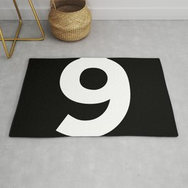 Number 9 (White & Black) Rug