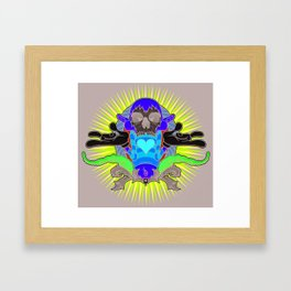 No More Happy Face Framed Art Print