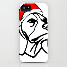 Beagle Dog with Christmas Santa Hat iPhone Case