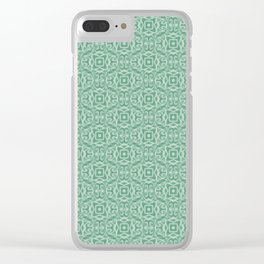 Baroque inspired green Clear iPhone Case