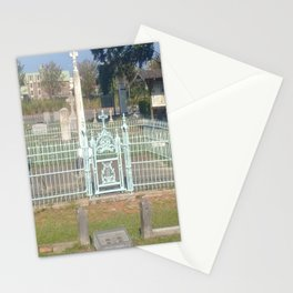 Teal Fence Stationery Cards