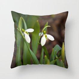 Snow drop flowers Canada Throw Pillow