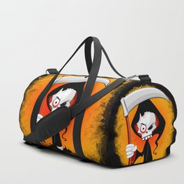 Grim Reaper Creepy Cartoon Character Duffle Bag