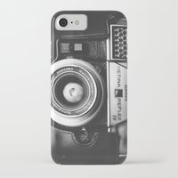 vintage camera iPhone & iPod Cases featuring Camera by Pauline Gauer