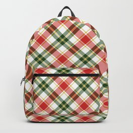 Christmas Plaid in Red and Green Backpack