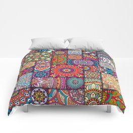 Boho Patchwork Quilt Pattern 2 Comforters