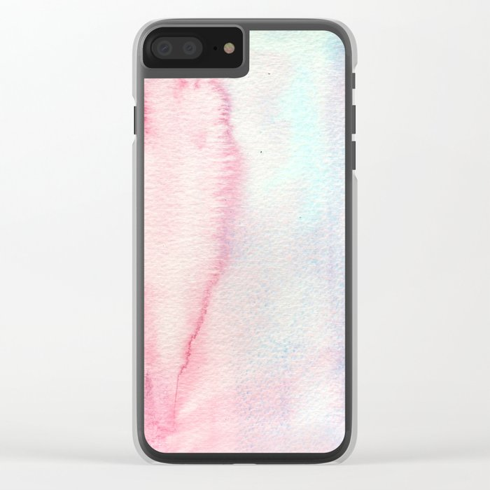 Tenderness vibes Clear iPhone Case