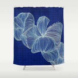 Blue Jelly Shower Curtain