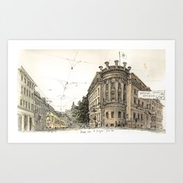 Basel Sketchbook Art Print