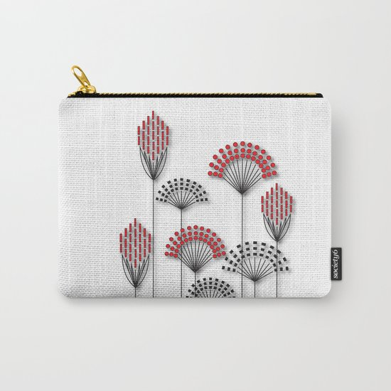 Square Flowers Carry-All Pouch