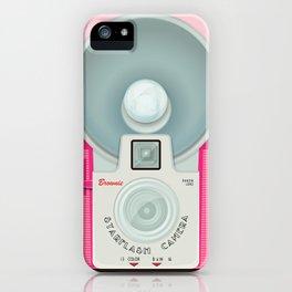 VINTAGE CAMERA PINK iPhone Case