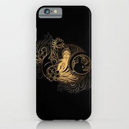 Buddha Black & Gold iPhone Case
