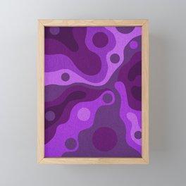 Groovy Psychedelic Purple Lava Shag Design Framed Mini Art Print