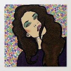 Dotty Girl Canvas Print