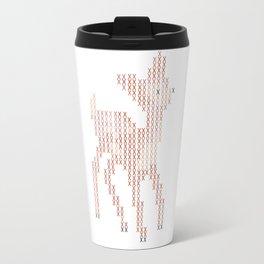 Little deer/fawn cross stitch Travel Mug