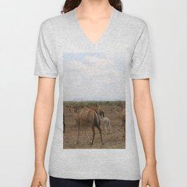 horse by Deborah Dunbar Unisex V-Neck