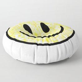 Splattered Smiley Face Floor Pillow