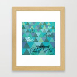 Tour de'Triangle Framed Art Print