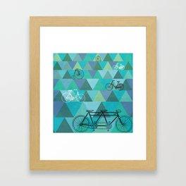 Tour de'Triangle Framed Art Print