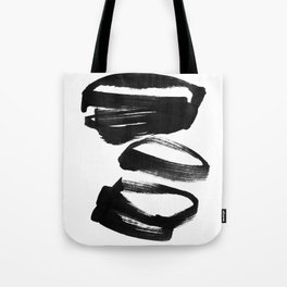 Black and White Abstract Shapes Ink Painting Tote Bag