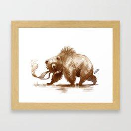 Bear With Bells Framed Art Print