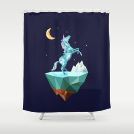 unicorn in the universe Shower Curtain