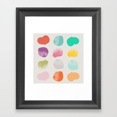 Colored Dots Framed Art Print