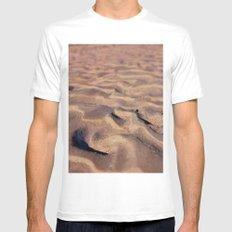 Desert Waves Mens Fitted Tee White MEDIUM
